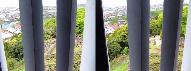 彦根城 西の丸三重櫓からの景観②(交差法)
