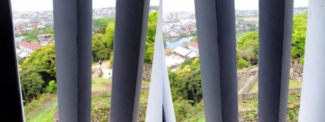 彦根城 西の丸三重櫓からの景観②(平行法)