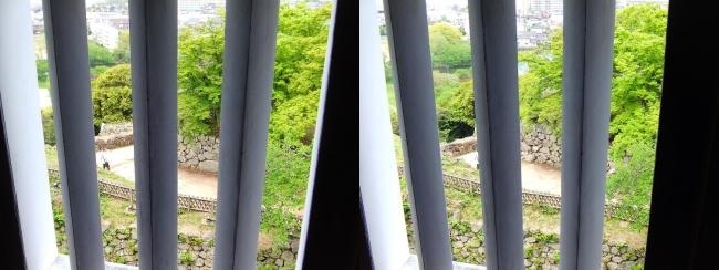 彦根城 西の丸三重櫓からの景観①(平行法)