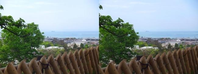彦根城 西の丸からの景観②(交差法)