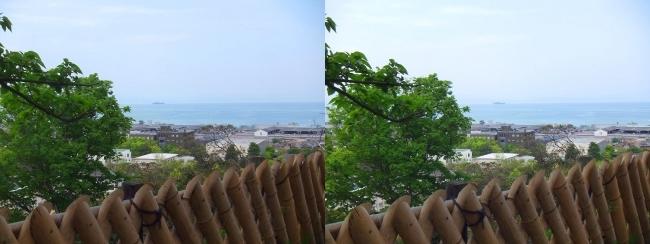 彦根城 西の丸からの景観②(平行法)