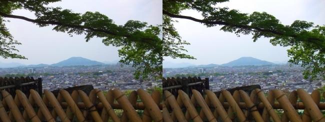 彦根城 西の丸からの景観①(平行法)