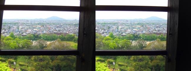 彦根城 天守からの景観⑪(平行法)