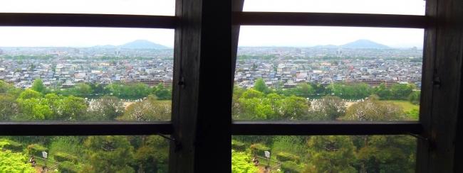 彦根城 天守からの景観⑪(交差法)