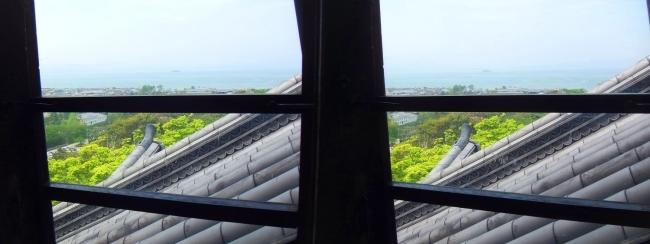 彦根城 天守からの景観⑨(交差法)