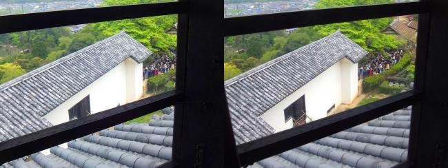 彦根城 天守からの景観⑥(交差法)