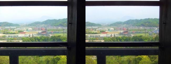 彦根城 天守からの景観⑤(交差法)