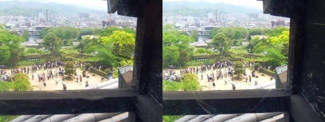 彦根城 天守からの景観①(平行法)
