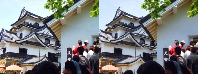 彦根城 天守入口①(交差法)