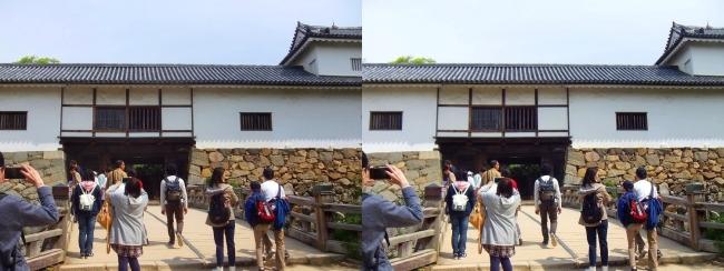 彦根城 天秤櫓②(平行法)