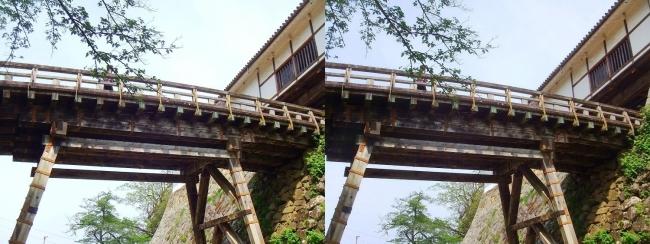 彦根城 廊下橋(交差法)
