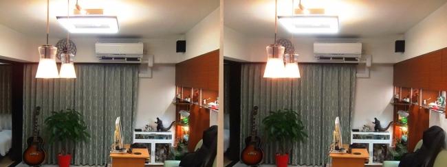 リビングルーム 照明②(交差法)