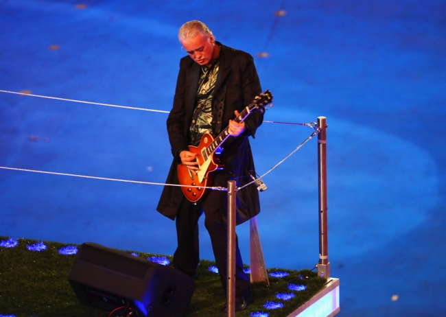 Jimmy Page Olympics Closing Ceremony