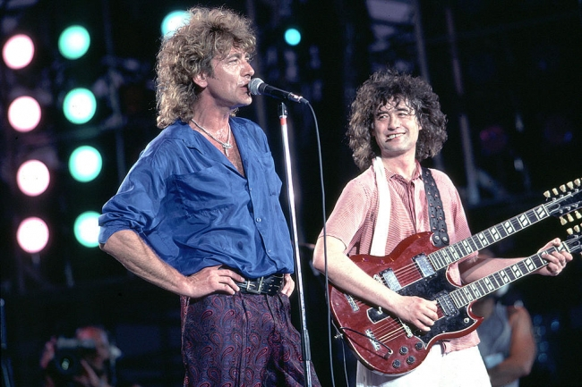 Jimmy Page Robert Plant LIVE AID