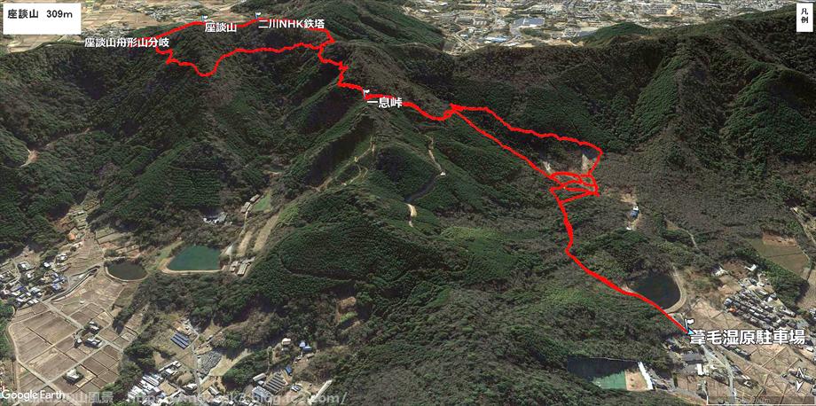 20190720座談山ルートマップ