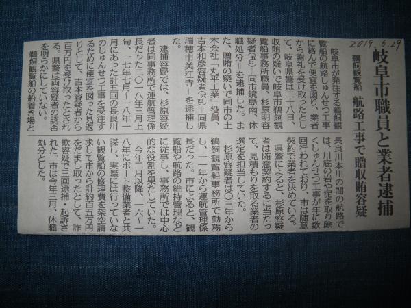 6月29日中日新聞記事
