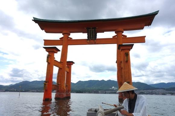 宮島・ろかい舟14