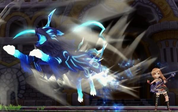 基本プレイ無料のクロスジョブファンタジーMMORPG、星界神話、霊獣を従えて敵を攻撃する新職業「ギタリスト」を実装したよ