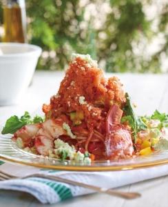 オマール海老とアボカドのサンタフェ風スパゲッティ