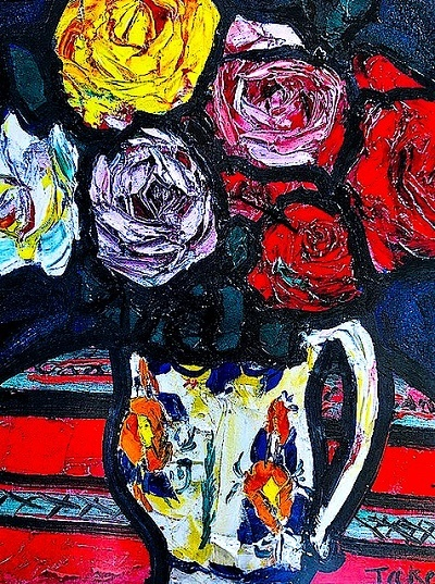 [11]林武(1896-1975)『薔薇』制作年不詳