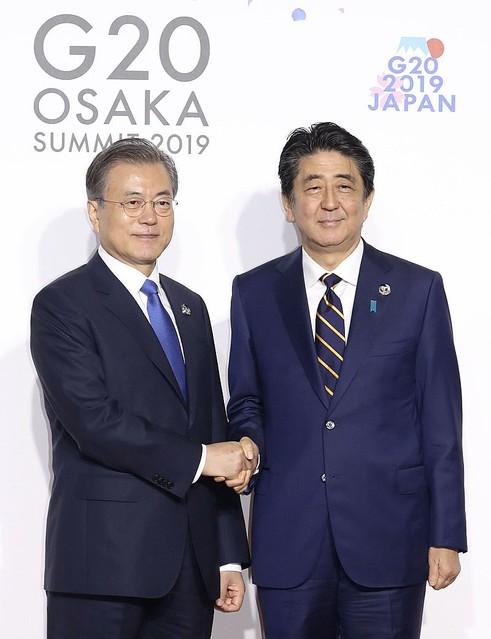 安倍首相 G20 大阪サミット 文在寅