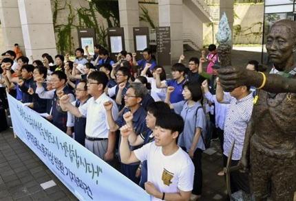 韓国・聯合ニュース「日本の市民団体、三菱重工業が朝鮮人強制徴用に関係していた事を証明する資料を公開」 … 1945年8月の三菱重工社報に「朝鮮出身の徴用者が1万2913人、非徴用者が171人」と記載、「社員」として扱われた記録としてブーメランに