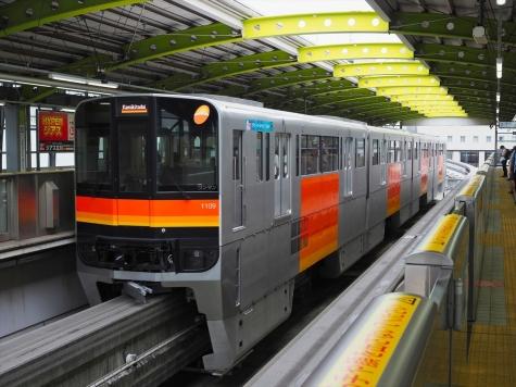 多摩都市モノレール 1000系 電車【立川南駅】