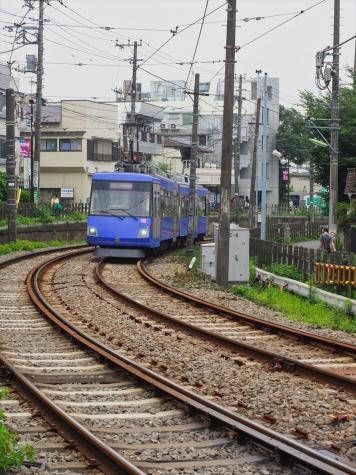 東急世田谷線 300系 電車【下高井戸駅】