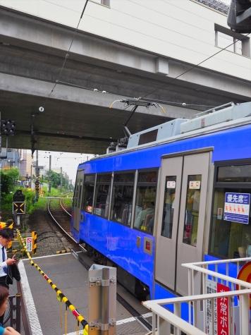 東急世田谷線 300系 電車【山下駅】