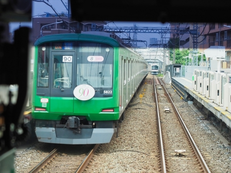 東急東横線 5000系ラッピング電車「青ガエル」