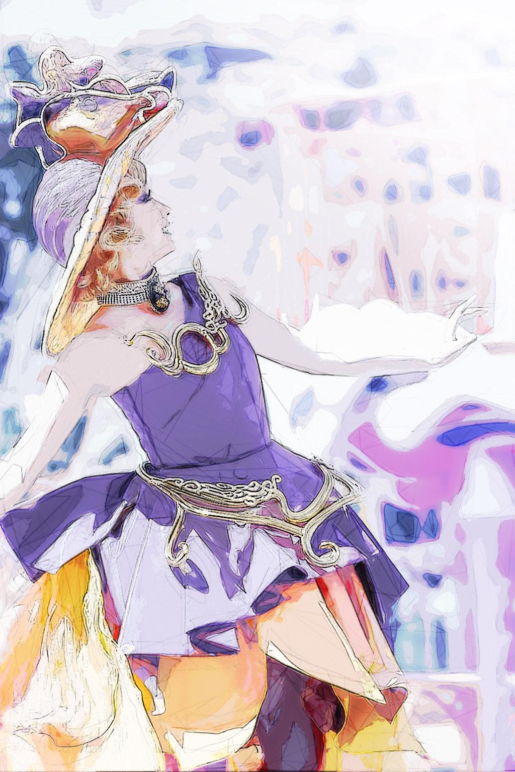 藤と柿V3(ファッショナブル・イースターのダンサーさん)