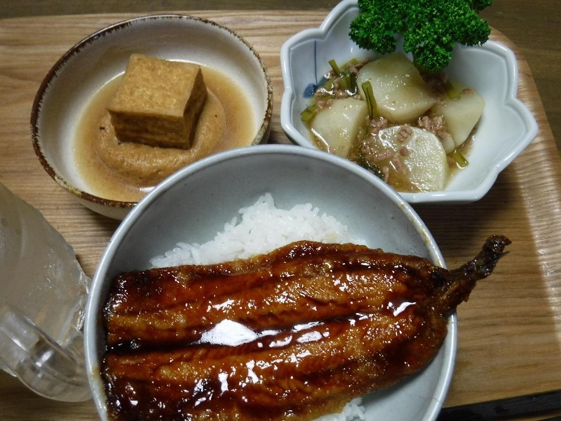 ブログ 夕食 サンマのカバ焼き.jpg