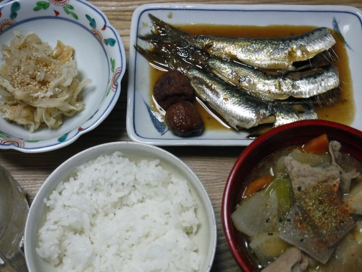 ブログ 夕食 イワシの梅煮.jpg