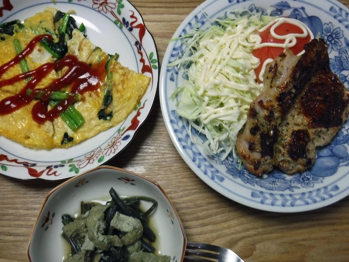 ブログ 夕食 チキンステーキ.jpg