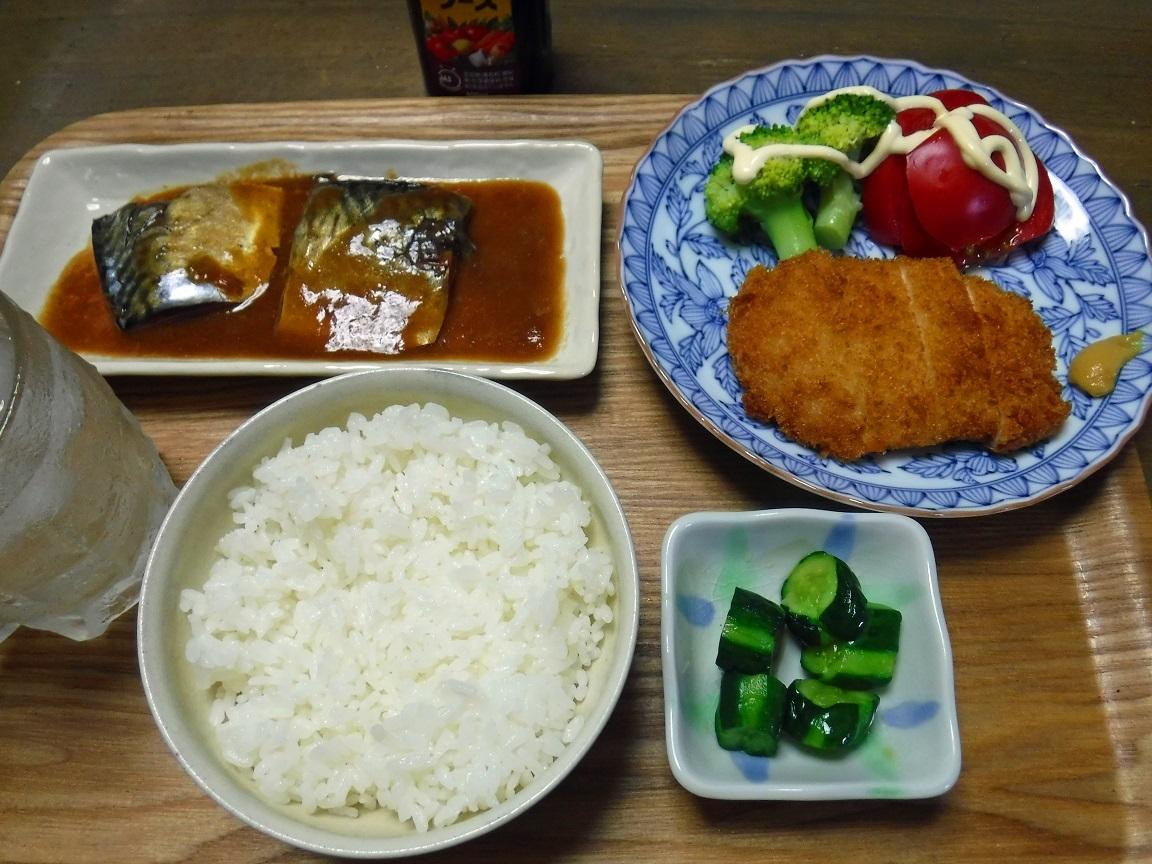 ブログ 夕食 トンカツと、味噌サバ.jpg
