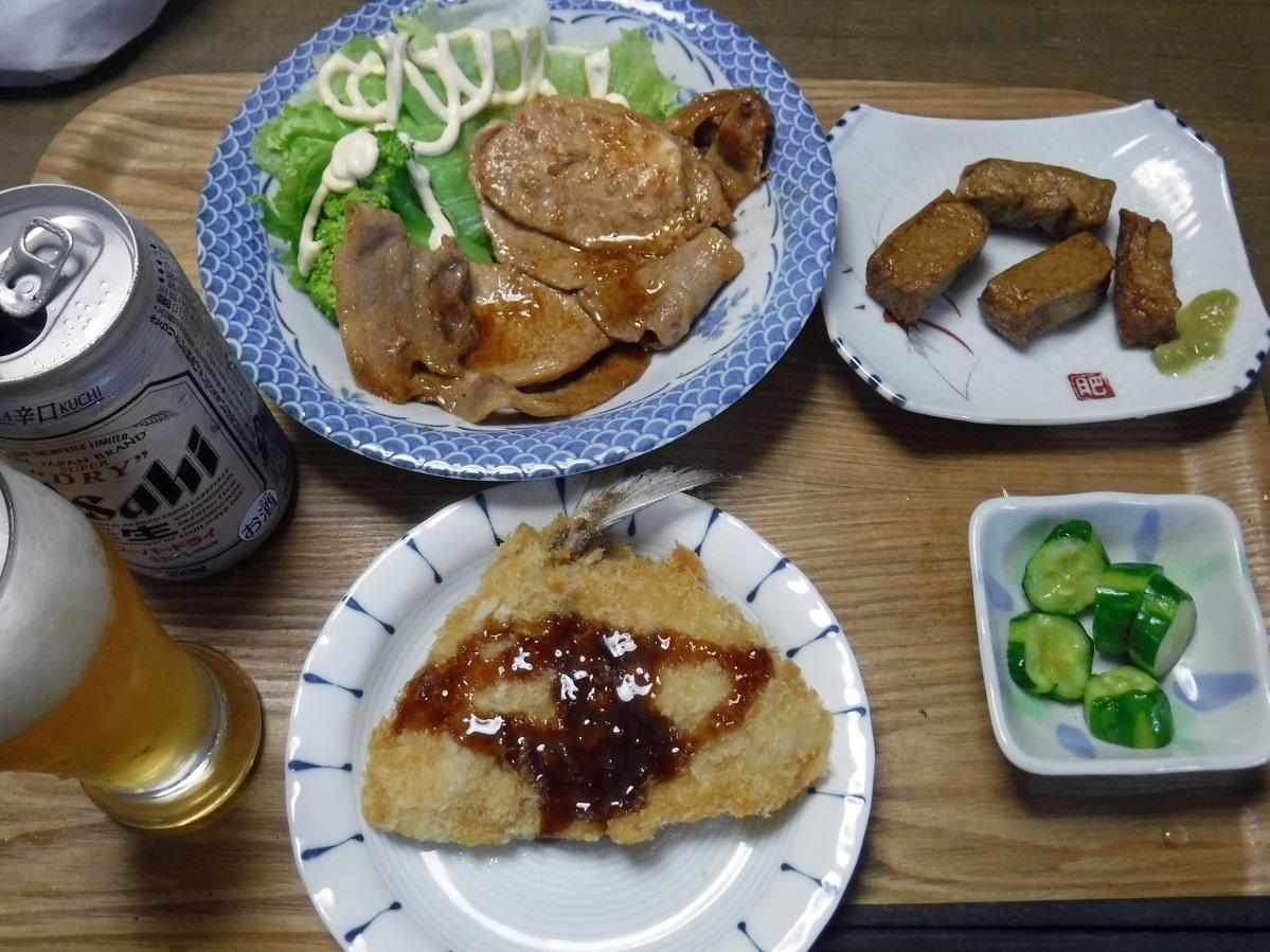 ブログ 夕食  ショウガ焼き.jpg