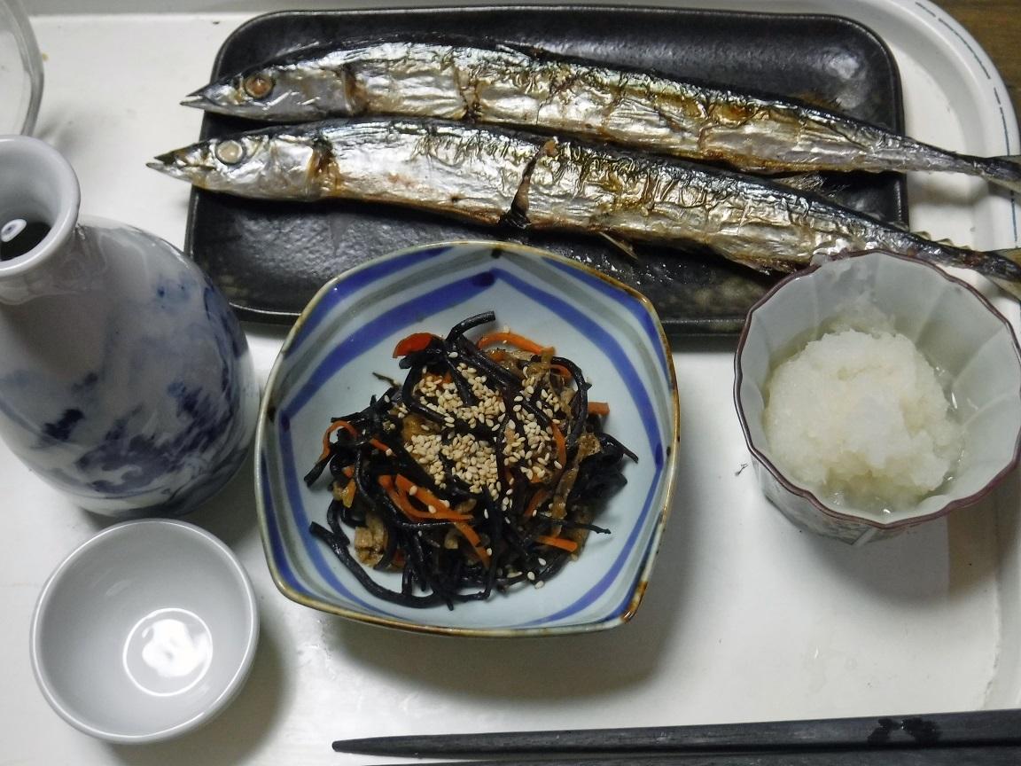ブログ 夕食 シンプルなサンマ定食.jpg