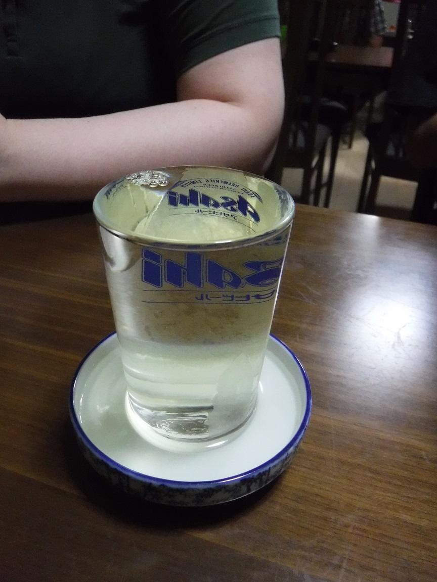 ブログ 呑み残しの日本酒を頂く.jpg