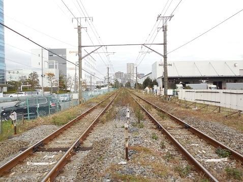 高島線の千若町踏切@横浜市神奈川区f