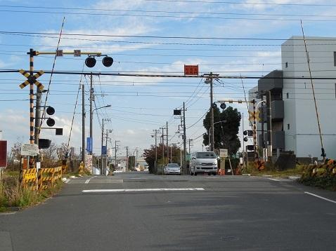 高島線の千若町踏切@横浜市神奈川区a