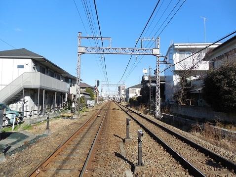 小田急江ノ島線の長後2号踏切@藤沢市d