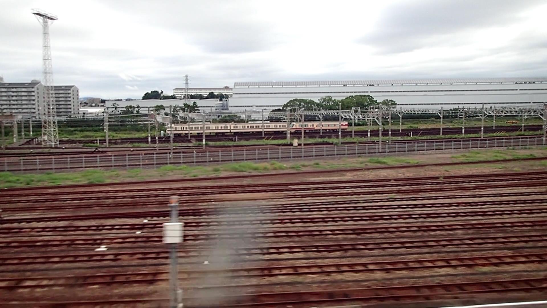 西浜松に集結した元リニア・鉄道館展示車両たち。