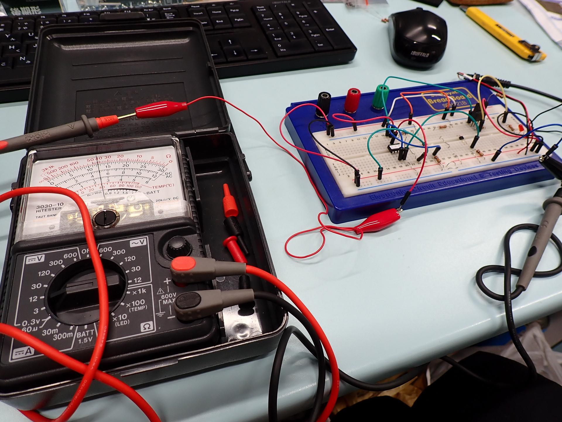 転車台センサー装置のバラック組み立て検証を終えました。