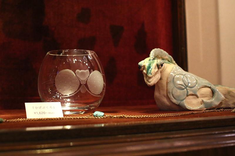 神谷麻理子 切子 グラス 猫 ひげぶくろ 大田区 池上 パンタレイ pantarheicraft ガラス