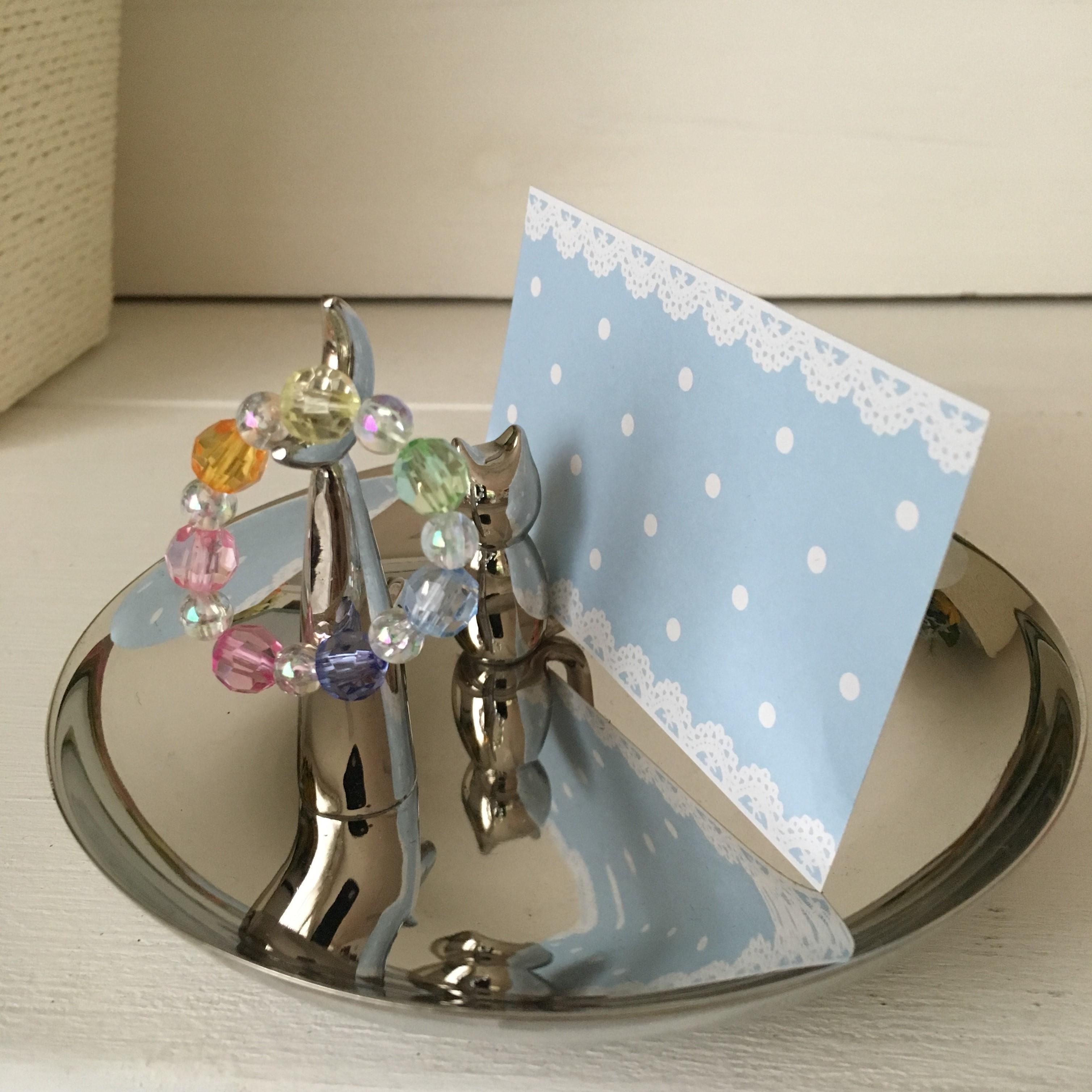 数珠とメッセージカード