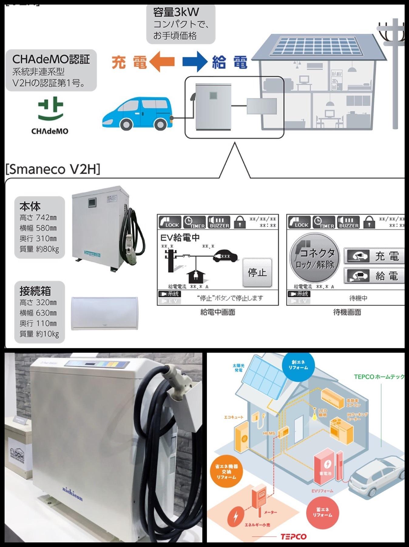 ニチコン v2h 三菱 dendo drive house