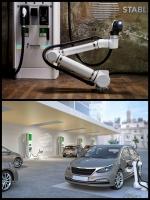 ロボットアームによる自律型電気自動車充電