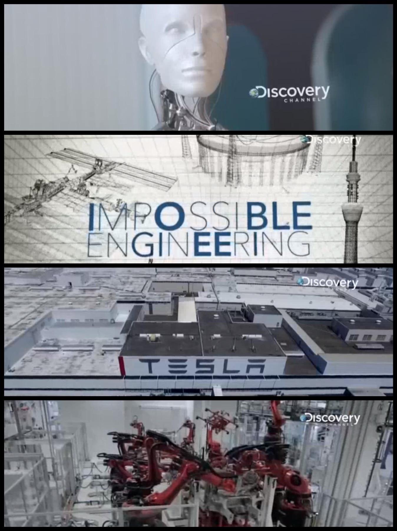 Discovery CHANNELの番組「メガ建造 テスラ・ファクトリー」