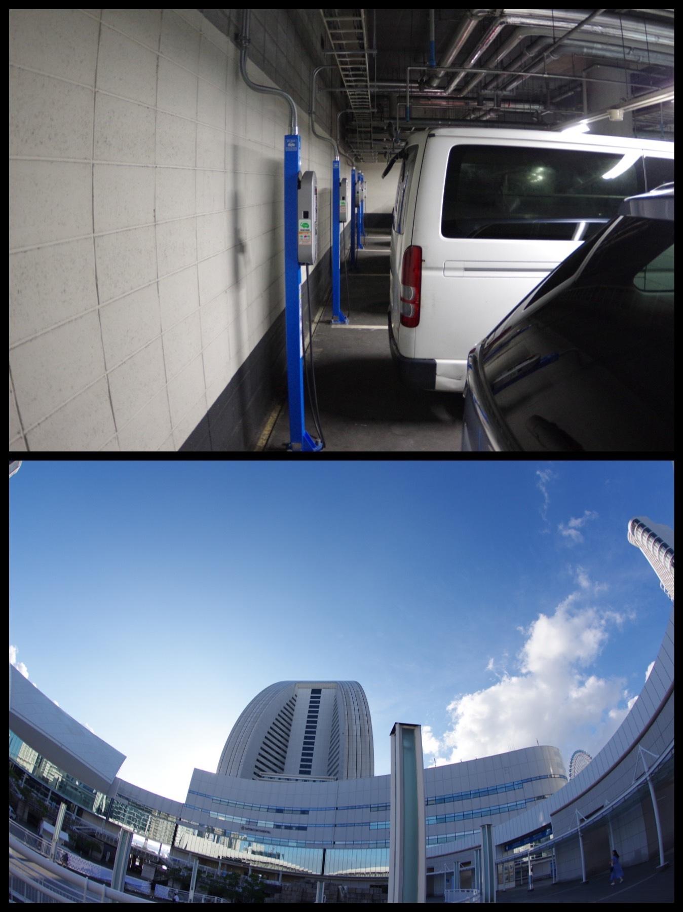 EV PHEV充電スポット 横浜みなとみらい公共駐車場