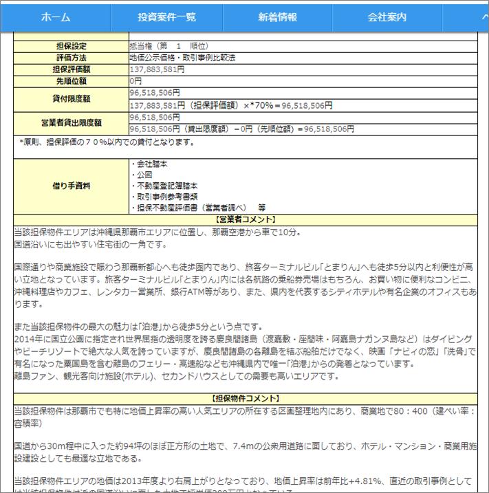 上場企業が買収予定ポケットファンディング_沖縄南部ファンド12号【一部不動産担保付】三次募集